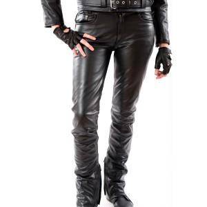 TSCHUL 412 - skórzane spodnie damskie